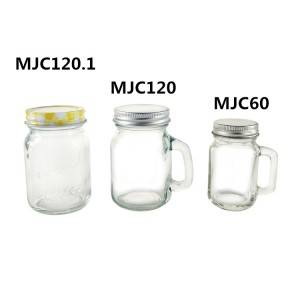 120ml 4oz Small Glass Spice Mason Jar Set with Lid and  Handle
