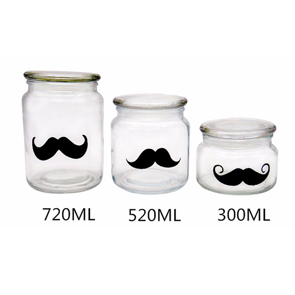 MBK Packaging 22OZ 720ml Classic Glass Storage Jar With Flat Glass Lid Featured Image