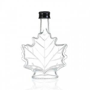 Canada 70ml 100ml 250ml maple leaf shape glass bottle