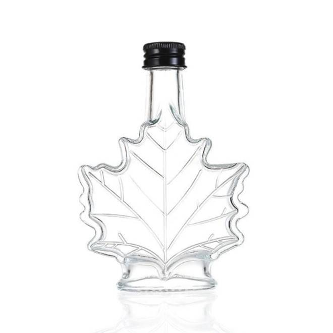 Canada 70ml 100ml 250ml maple leaf shape glass bottle Featured Image