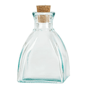 6.8oz diamond recycled glass  Diffuser Bottles with cork