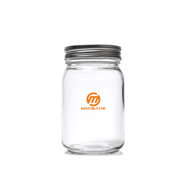 16OZ Preserving Glass Mason Jar with Lid Featured Image