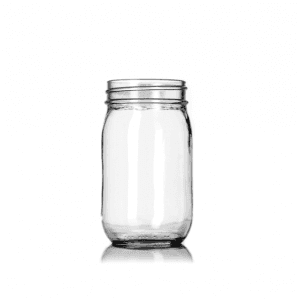 16OZ Preserving Glass Mason Jar with Lid
