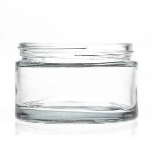 200ml wide mouth Clear Glass Cream Jar