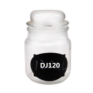 MBK Packaging 120ml Clear Glass Jar with Dome Glass Lid