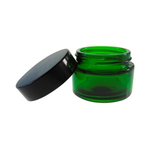 MBK Packaging 30ML Custom Cream Storage Green Glass Jar With Screw Top Lid