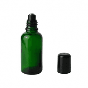 MBK 50ml Green Glass Roll On Bottle
