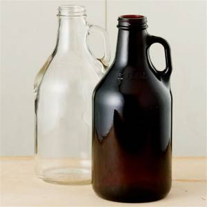 32 oz Amber Glass Growler
