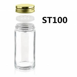 4OZ Mini Round Glass Spice Jar with Shaker Lid