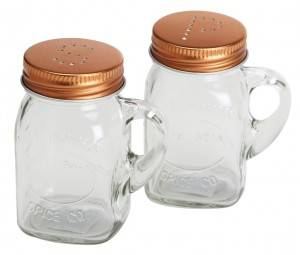 Wedding Mini 4OZ 120ml Glass Spice Jar with lid and hole