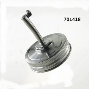 70mm Stainless Steel Mason Jar Oil Infusions Lid Pour Spout Lid
