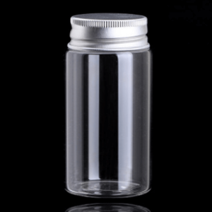 Borosilicate Glass Candy Jar with Metal Lid