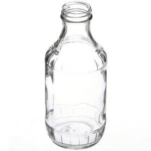 16 oz BBQ clear glass sauce bottle