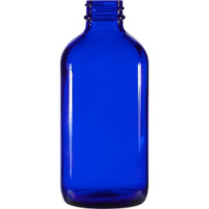 MBK Packaging 8OZ Blue Glass Bottle with Plastic Screw lid