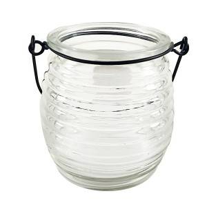 Candle glass jar with handle