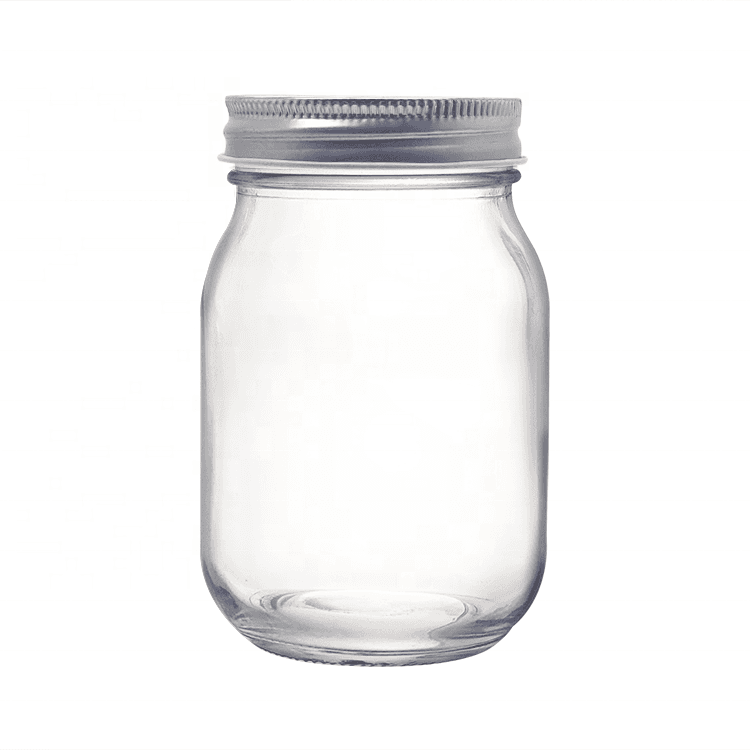 Regular Mouth 16OZ Glass Mason Jar with Lid for Honey Jam Featured Image