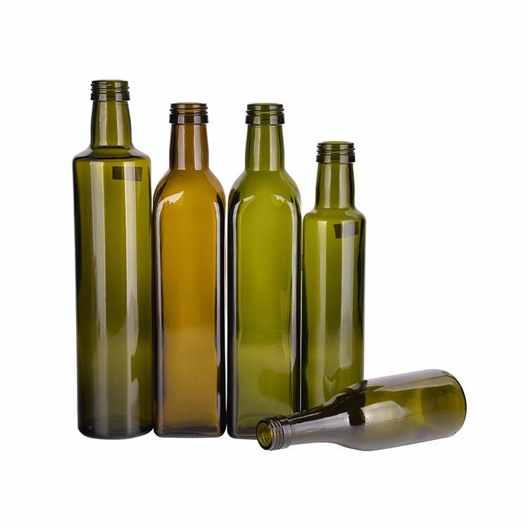 250ml 500ml 750ml Green Glass Marasca Olive Oil Bottle Featured Image