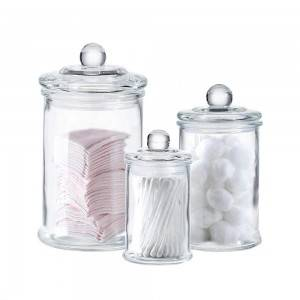 MBK Packaging Glass Jar with Lid for Candle and Dry Flower