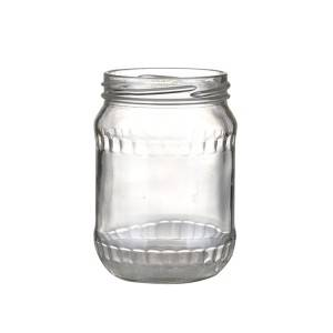 720ML Cucumber Glass Canning Pickles Jar with Lug Lid
