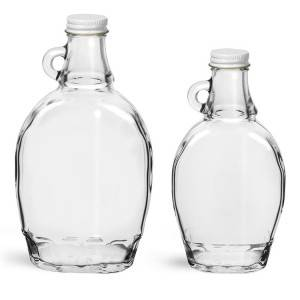 250ml 375ml Glass Flask Maple Syrup Bottle with Handle