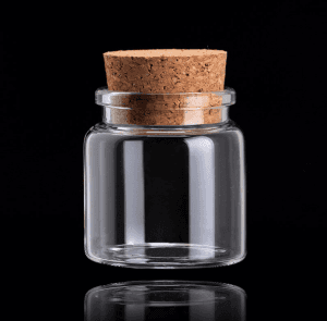 Borosilicate Small Glass Bottle with Cork Stopper for Wedding Favor