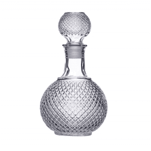 European  Whisky Carafe Glass Scotch Decanter with Stopper
