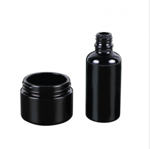 30G Black Glass Cosmetic Jar