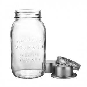 24OZ Glass Mason Jar with Cocktail Shaker Lid