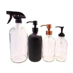 MBK Packaging 120ml Frost Glass Bottle with Metal Lid for Bubble Bath