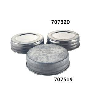 Galvanized Vintage 70mm airtight Mason Jar Lid set for Candle