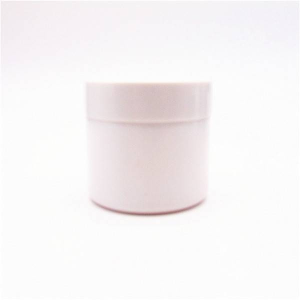 MBK packaging 2oz 60ml white glass herb jar with white ABS lid Featured Image