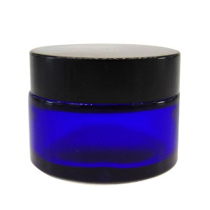MBK Packaging  30ml 1OZ Cobalt Blue Glass Lotion Jar