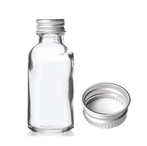 MBK Packaging 1OZ 30ml Clear Glass Bottle with Lid