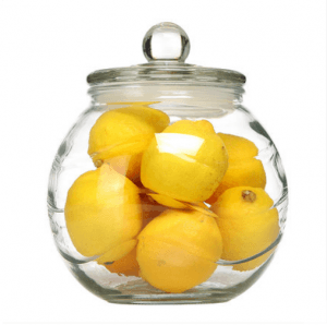 Kitchen Storage 2.5L 5L Ball Shape Glass Jar with Lid