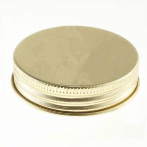 58-400 Gold Aluminum Metal Lid with PE Linner