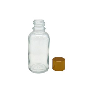 MBK 30ml Clear Glass Oil Bottle With Alumite Cap