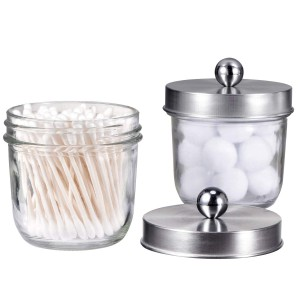 2017 China New Design Glass Jar Vintage - Stainless Steel Mason Lid For Qtips Cotton Swabs – Menbank