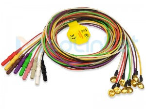 EEG Lead Wires with Electrodes