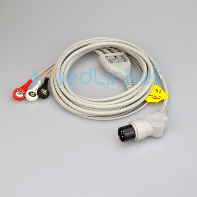 One-Piece Series ECG Cable With Leads