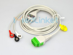 Medlinket GE-Marquette Compatible Direct-Connect ECG Cables