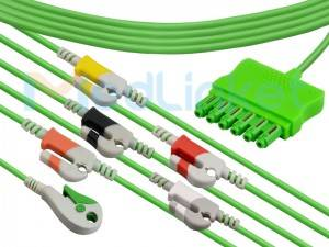 One-line series ECG lead wires EQ-096P6A