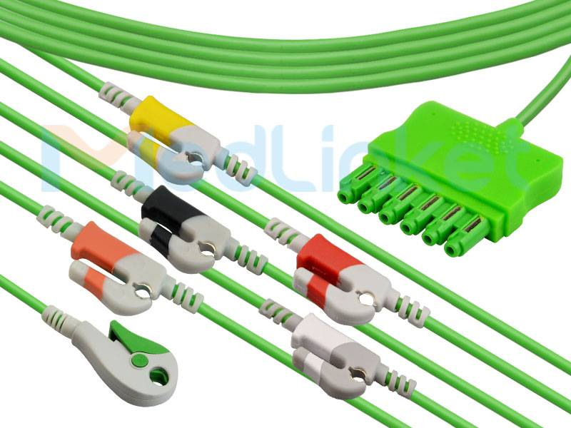 One-line series ECG lead wires EQ-096P6A Featured Image