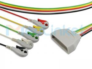 Philips MX40 Compatible ECG Telemetry Leadwires ET035C5I