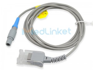 Medlinket EDAN Compatible SpO2 Extension Adapter Cable