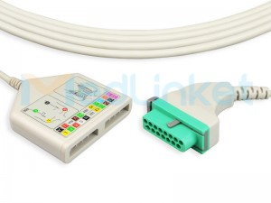 One-Piece Series EKG Cable With Leads