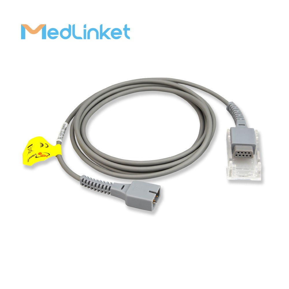 Factory Customized Compatible For Schiller Argus Vcm Spo2 Extension Cable 14pin To Db9 Ds-100a Spo2 Sensor