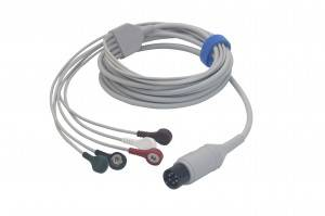 Mindray +6 pin 5lead cable d'ECG integrada 0010-30-43116