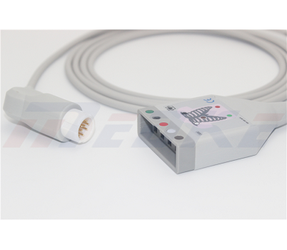 Philips 12 Pin To 5 Lead Dual Pin ECG Trunk Cable M1520A