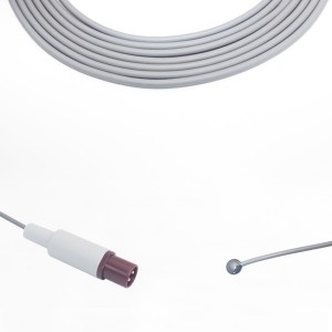 Philips 21078A Adult Skin Temperature Probe, Round 2 Pins Connector