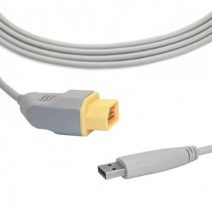 Nihon Kohden IBP Cable To USB Transducer B0910